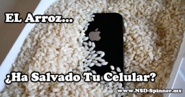 Arroz Salva tu iPhone Agua